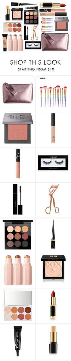 """""""Makeup bag"""" by amyrobinson599 on Polyvore featuring beauty, Urban Decay, NARS Cosmetics, Inglot, Gucci, Tweezerman, MAC Cosmetics, Christian Louboutin, Givenchy and L'Oréal Paris"""