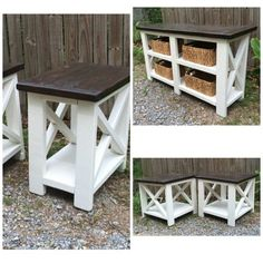 Ideas farmhouse furniture diy ana white home projects Farmhouse Furniture, Pallet Furniture, Furniture Projects, Furniture Plans, Rustic Furniture, Home Projects, Farmhouse Decor, Furniture Design, Kitchen Furniture
