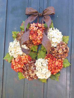 Spring Hydrangeas Front Door Wreaths Traditional Wreaths by bndd, $70.00