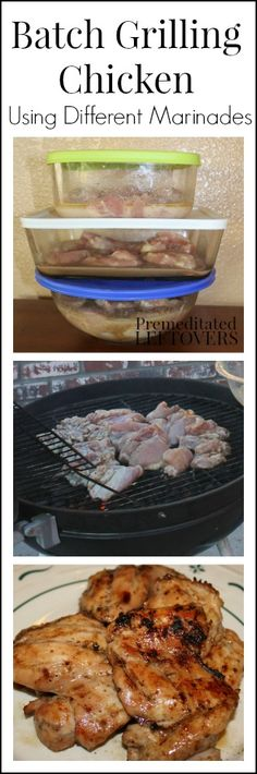 How to Batch Grill Chicken with Different Marinades - Grill chicken in bulk on the barbecue. Here are tips for grilling chicken and marinade recipe ideas.