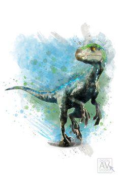 Motorcycle RARE Raptor BLUE Dinosaurs Jurassic World DINO HYBRID Owen Alpha