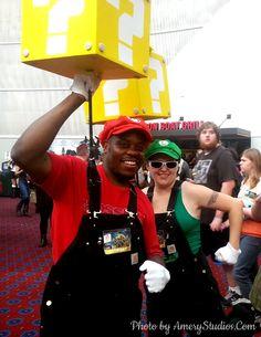 Mario and Luigi cosplay at RoseCityComicon in Portland! Photo by AmeryStudios.Com