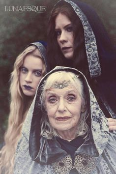 Maiden, Mother, and Crone. Morrighan...The Triple Goddess.