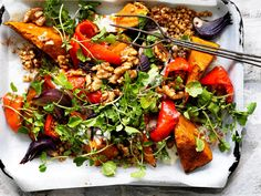 Looking for delicious and healthy vegetarian dinner ideas? Then don't go past this wholesome Lebanese roasted pumpkin salad - a tasty and nutritious crowd-pleasing dish!