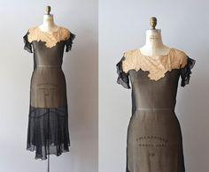 silk chiffon 20s dress / vintage 1920s dress / Longshadows dress
