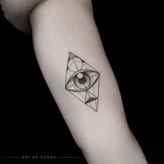 Image result for geometric eye tattoo