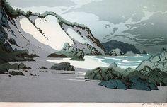✨ Oscar Droege (1898-1983) - An der Steilküste, Farb-Holzschnitt ::: At the Steep Coast, Colour Woodcut