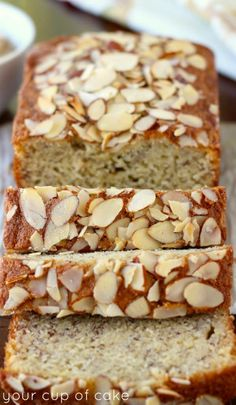 Old bananas? You can& beat this amazing Almond Banana Bread! This stuff is next level good. Old bananas? You cant beat this amazing Almond Banana Bread! This stuff is next level good. Banana Bread Recipes, Almond Recipes, Delicious Desserts, Dessert Recipes, Yummy Food, Breakfast Recipes, Almond Banana Bread, Almond Flour, Kouign Amann