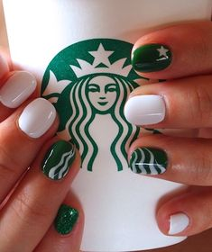 #starbucks #nail #nails #nailart