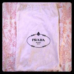 """Prada Dust Bag Small Prada dust bag. Measures 8.5"""" wide x 13"""" long. Prada Bags"""