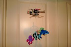 Check out this littleBits project! Sealife mobileAutomated fish mobile powered by littlebits, combining 3 systems:  littlebits, Actobotics and Hama fusebeads.