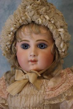 """23"""" Antique 9 over EJ Bebe Jumeau w.Blue Paperweights French Bisque doll"""