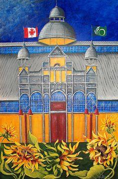 Aberdeen Pavillion - Cattle Castle by Jill Alexander Castle Painting, Vibrant Colors, Colours, Aberdeen, Cattle, Fine Art America, Taj Mahal, Art Deco, Canada