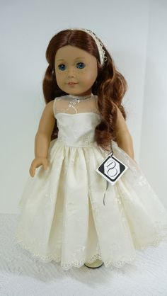 Ivory Lace Formal Dress for 18 inch dolls by DollOriginals on Etsy, $35.00 on lovely Saige