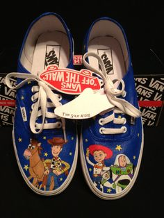 Custom Designed Hand Painted Vans by TheSoleArtist on Etsy