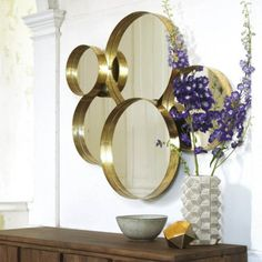 Gold Lamour Round Mirror - View All Mirrors - Mirrors - Lighting & Mirrors