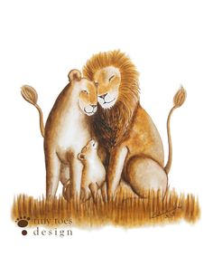 Lion Art for Baby Boy or Girl Nursery  by TinyToesDesign on Etsy, $24.00