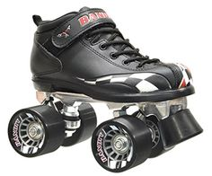 Children's Roller Skates - New Childrens Riedell RW Bandit Quad Roller Skates Black w Checkerd Race Flag >>> Be sure to check out this awesome product.