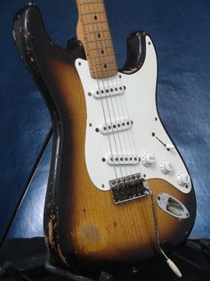 1955 Fender Stratocaster Vintage Electric Guitar - ONE OWNER!!! 6lbs 10oz | the Guitar Collectionary