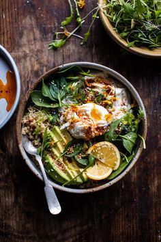 Turkish Egg and Quinoa Breakfast Bowl.