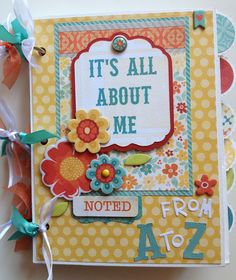 #papercraft #scrapbook #minialbum All About Me A-Z Mini Album - Scrapbook.com