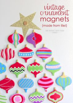 The Homes I Have Made: Vintage Ornament Magnets (made from tile!)