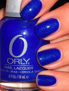 Orly Royal Navy- I prize this polish especially for the winter months... it's flawless, and incredibly vibrant, with teal shimmer