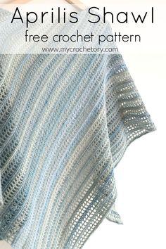 Aprilis Shawl - free crochet pattern by MyCrochetory