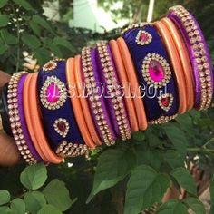 Bangle set made of silk thread-22