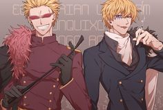 doflamingo and corazon (*I hate Doffy, but I can't ignore their brother relationship)