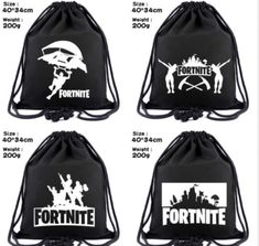e91080d08be9 Customizable Fortnite Battle Royale Drawstring Backpack Unisex Black   fashion  clothing  shoes  accessories