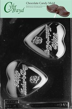 Cybrtrayd D045 Chocolate Candy Mold Happy Mothers Day Heart Dads and Moms *** Click image to review more details.