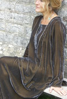 Tasman Dress in velvet.