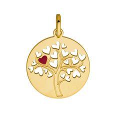Medaille Arbre à coeurs... Le célèbre Arbre de vie redessiné, un de nos coups de coeur 2018... Medaille bapteme enfant / bébé