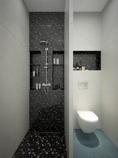 Modern Bathroom Tile, Minimalist Bathroom, Diy Bathroom Decor, Modern Bathroom Design, Bathroom Interior Design, Bathroom Ideas, Bathroom Storage, Bathroom Closet, Remodel Bathroom