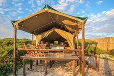 """LekkeSlaap on Instagram: """"Op 'n privaat plaas op die strandfront!  West Coast Luxury Tents is net 28 km vanaf Elandsbaai en 30 km van Dwarskersbos. Hiér kan…"""" Luxury Camping, Campsite, Cape Town, Glamping, Westerns, Gazebo, Safari, Tent, Waterfall"""
