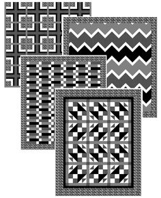 Five one yard cuts will make ANY of these quilts! Super Easy! www.quiltintia.com