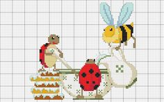lady bugs and bee w the cereal,etc., cute!