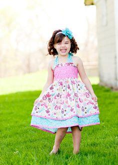 Tamaño doble capa volante blusa PDF patrón de vestido de Katy 6/12 meses tamaño 8