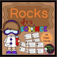 Rocks (24 Task cards)This is a colorful set of 24 task cards about rocks.Questions are about rocks, layers of the earth and volcanoes. This set is a wonderful addition to your lessons! I've included a recording sheet and answer key, too!