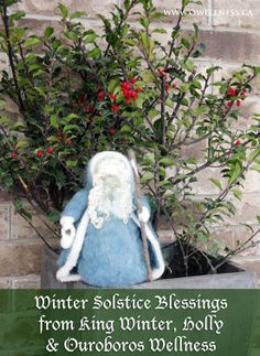 Winter Solstice Blessings from King Winter, Holly & Ouroboros Wellness