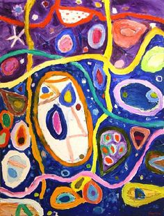 Gillian Ayres - Round About Midnight, 2004