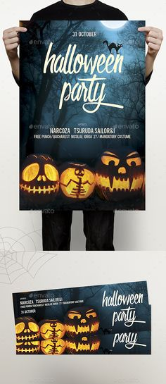 Halloween Flyer  — PSD Template #cover #bash • Download ➝…