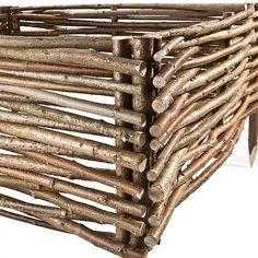 Ágyásszegély , Kerti szegély mogyorófa 20x60 cm - Kosárfutár
