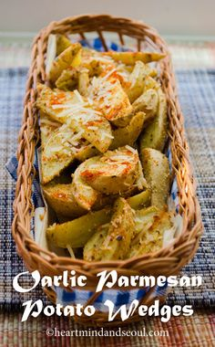 Baked Garlic Parmesan Potato Wedges - I wanted to love these.  They just had an odd after taste.