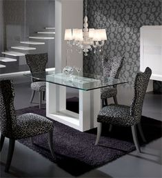 mesas de comedor moderna de vidrio - Google Search