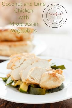 Coconut and Lime Chicken with Mixed Asian Vegetables   http://thecookiewriter.com   @thecookiewriter   #chicken