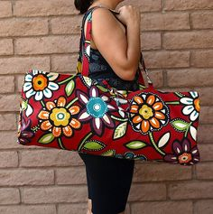 """ENERGIZE"" Handmade Yoga or Pilates Tote Gym Bag by ChellaBellaDesigns, $35.00"