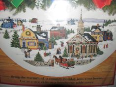 Dimensions Country Holiday Tree Skirt Cross Stitch Kit Linda Nelson Stocks Open