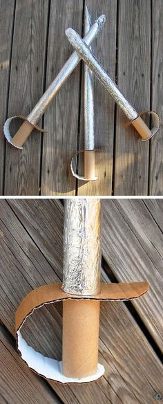 cardboard upcycle home decor Mommo-Design: 6 RECYC - upcycledhome Kids Crafts, Projects For Kids, Diy For Kids, Craft Projects, Sword Craft For Kids, Craft Ideas, 4 Kids, Easy Crafts, Diy Ideas
